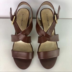 Bandolino Brown Strappy Sandals Block Heel